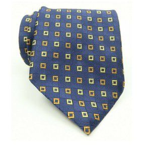 Brooks Brothers Blue Gold Orange Silk Tie
